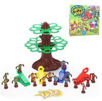 as pic banana trees - Plastic toy gift jumping monkeys tree banana family fun Interactive Game set