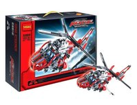 bay tech - New item Decool High Tech King Steerer set Rescue Helicopter Model D ABS Plastic building block set Bay Toy as gift
