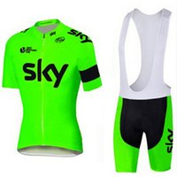 Wholesale 2016 SKY Pro Team Maillot Cycling Clothing Rock Racing Bike Sportwear Ropa Ciclismo MTB Bike Clothes Mens Cycling Jersey Bib shorts Set