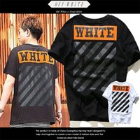 bamboo mens shirt - New OFF WHITE Short T Shirt For Men Brand Hip Hop VLONE Kanye West Justin Bieber Purpose Tour TShirts Mens Thrasher Black Palace