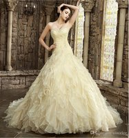 beautiful alternative - 2017 Yellow Wedding Dresses Online Colorful Wedding Dresses Wave Details Alternative Bridal Gowns Colored Beautiful A Line Dresses Special