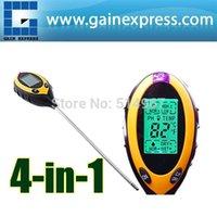 Wholesale in Digital pH Meter measure Soil PH Temperature Moisture Sunlight Tester with Backlight