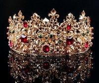 Accesorios para el cabello para novias baratas España,Las tiaras barrocas europeas de la novia