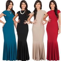 El precio de fábrica vendedor caliente de gran tamaño plisó el estilo caliente de la falda vende el vestido atractivo del color puro de la ropa de las mujeres con las mangas cortas