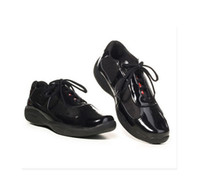 Wholesale Fashion Italian Brand Mens Casual Shoes Patent Leather With Mesh American Cup Comfort Shoes For Men Luxury
