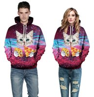 acrylic serving - 2017 Starry Sky Kitty Number Printing Baseball Serve Foreign Trade Lovers Dress New Product Long Sleeve Bring Midnight Woman