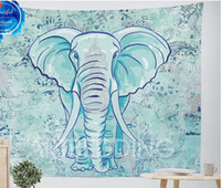 Wholesale Elephant Tapestry Colored Printed Decorative Mandala Tapestry Indian cmx150cm Boho Wall Carpet Throw Rug Blanket TY003