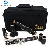 Wholesale Key ABS bB Flat Soprano Binocular Clarinet with Cork Grease Cleaning Cloth Gloves Reeds Screwdriver Woodwind Instrument
