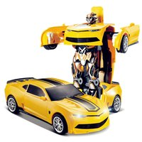 Wholesale Racing Car Models Deformation Robot Transformation Remote Control RC Car Toys for Children Kids Gift TT661