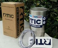Wholesale RTIC Oz Oz Stainless Steel Tumbler RTIC oz Oz Tumbler rambler Camo Stainless Steel Tumbler Cup with lid DHL free