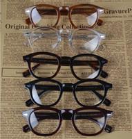 al por mayor gafas redondas enmarcadas-Vidrios-2016 de la marca de fábrica Vidrios eyewear johnny del depp de Moscot de Moscot de la marca de fábrica superior de la marca de fábrica de calidad superior con el remache 1915 de la flecha envío libre