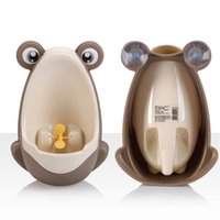 Wholesale Stylish PP one Frog Children Stand Vertical Urinal Wall Mounted Urine Groove Baby Boy Potty Toilet Trainers Urinals