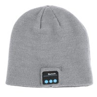 Wholesale New Soft Warm Beanie Bluetooth Music Hat Cap with Stereo Headphone Headset Speaker Wireless Mic Hands free for Men Women Gift