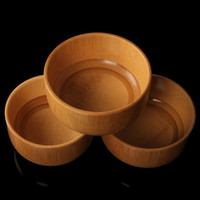 baby eating utensils - Manufacturers selling bamboo utensils on the grey paint baby children eat Chinese circular pure color with thick bamboo bowl