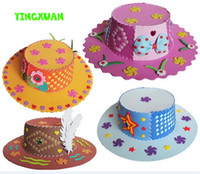 Wholesale piece Handmade EVA hat Toy Children DIY Craft Kits Educational Toys for girls years