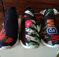 Flat baseball shoes sale - Pharrell Boost NMD Human Race Sales new NMDs model Off White Friends and Family Williams Runner nmd shoes popular Black Shock Pink Yellow
