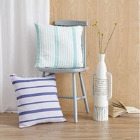 Wholesale Bedding article Cushion Decorative Pillow pure cotton Coarse Cloth hand woven stripe Simple and generous Without core