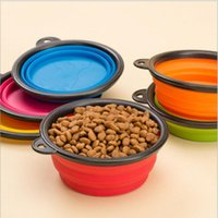 Bowls, Cups & Pails Plastic Outdoor 6 Colors Pet Dog bowl Floding Silicone Frisbee Collapsible Feeding Water Feeder Travel Bowl Dish Cats bowl Dog Supplies