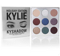 Wholesale 12pcs DHL Free kylie holiday edition eyeshadow Kylie holiday collection Jenner Christmas Edition lip kit Gold Metal Matte lipstick