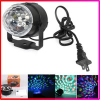 Wholesale Christmas Magic Ball Bulb W LED Mini Party Light Disco Stage Lighting RGB Colorful Rotating lamp