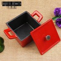 Wholesale Mini Cast iron Square Pot by inch baby child pot internation degree enamel pot
