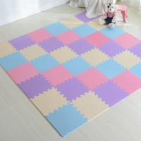 Wholesale 16pcs set Hot Eva Soft Foam Exercise Floor Yoga Mat Kids Play Mats Multicolor Home Living Room Mats