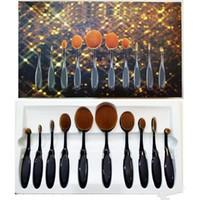Wholesale Oval Foundation Brush Makeup Brushes Set Oval Makeup Brush Set Bendable Toothbrush Shaped Cosmetic Brushes Set