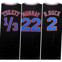Wholesale Black Tune Squad Jersey Men s Space Jams Jersey air dunk Embroidery MJ Jersey