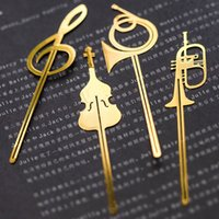 Cheap Metal bookmark charms Best Bookmark musical instrument bookmarks making