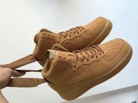 air f - 2016 New Arrival Airs F HIGH WHEAT Yellow AF1 Men s Womens Running Shoes for Top quality Fashion Casual Boots Size