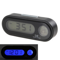 automobile thermometer - Digital Led Screen Car Clock Dashboard Electronic Form Automobile Clock Fashion Vehicle Electronic Clock Thermometer