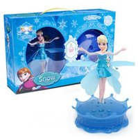 Wholesale Frozen Flying Toys LED Frozen Doll Frozen Princess Toys Theme Music Elsa Anna Dolls Party Toys Brinquedos Kids Girls