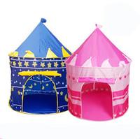 Kids Play Tents Príncipe y Princesa Party Tent Niños Indoor Outdoor tienda Casa de Juego 4 colores para elegir