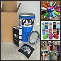 Wholesale 20 Colors YETI Tumbler Rambler Cups Large Capacity OZ Stainless Steel Tumbler Mugs Pink Gold Blue DHL Fast Shipping