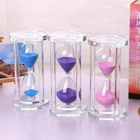Wholesale Factory minute cylindrical glass hourglass hourglass time creative craft ornaments creative gift crafts