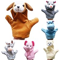 Wholesale Delicate Baby Child Zoo Farm Animal Hand Glove Puppet Finger Sack Plush Toy DKZ