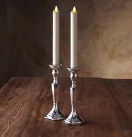 Luminara sin manchas de 8 pulgadas remotas listo moviendo Wick marfil velas cónicas Flameless parpadeo velas conjunto de 2
