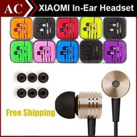 Wholesale 3 mm Metal Xiaomi piston Headphone Earphone Noise Cancelling In Ear Headset earbud with Mic Remote For Xiaomi Samsung iphone s