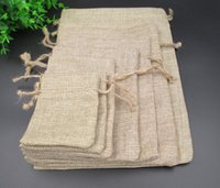 Wholesale 20 cm Handmade Cotton Drawstring burlap Wedding Party Favor Christmas Gift Packaging Bag Pouches Jute Bags