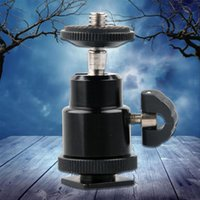 Wholesale New For Camera Tripod LED Light Flash Bracket Holder Mount Hot Shoe Adapter Cradle Ball Head with Lock