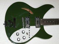 La tienda de encargo 330 360/6 honda el tablero más nuevo de la guitarra eléctrica de la guitarra eléctrica verde El envío libre