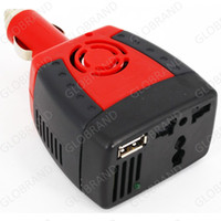 Wholesale GLOXY100 W V DC to V V AC Car Power Inverter USB Plug Converter Charger For Cellphone Phone Samsung Iphone Laptop Adapter