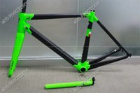 Wholesale 2017 Newest Black Green C60 carbon frame size cm new carbon bike frame K weave BB386 BB30 or BB68 adapter