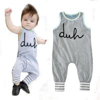 Wholesale brand baby boy romper summer style cartoon letter newborn jumpsuit for baby clothes high quality cute stripe girl rompers