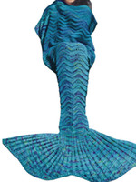 bench beach - A Knitted Mermaid Tail Blanket Washable Leisure Home Bedding Sofa Bench Beach Throw Blankets Godness Rugs Blankie Good Quality