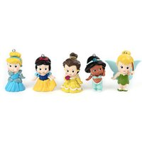 animated cartoon characters - set Cartoon Princess Pendant PVC Movie Animated Characters Charms Pendant For Girls Necklace Kids Toy Figures