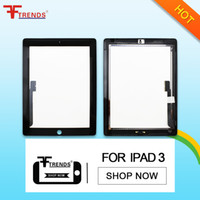 Asamblea de reemplazo del panel del digitizador de cristal de la pantalla táctil del frente negro blanco de la alta calidad AAA para el iPad 2/3/4