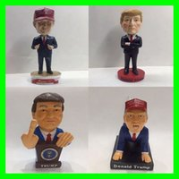 Wholesale 2017 USA President Donald Trump Home Decorative Articles Resin Little Figurine Trump Dolls Novelty Party Favor Festival Gifts