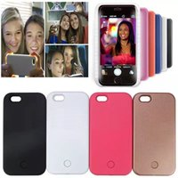 apple ups - Iphone7 Selfie Case LED Light Up Your Face Luminous Back Cover For iphone s plus SE Samsung Galaxy S6 S7 edge