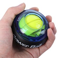 Wholesale Wrist Power Ball Roller with Strap Gyroscope Force Strengthener Hand Ball Wrist Exercise For sportsman Computer Typist Pianist